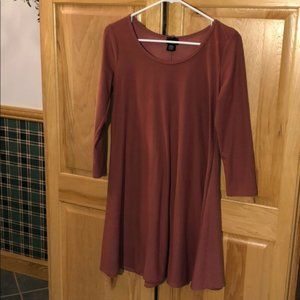 Maroon Suede-Like Super Comfy Dress